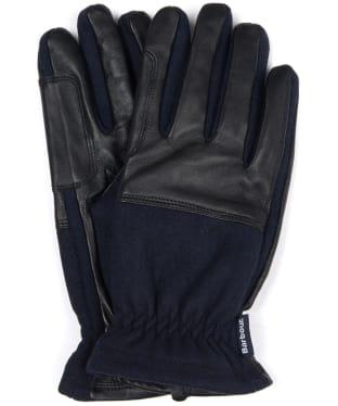 Men's Barbour Rugged Melton Wool Mix Gloves - Navy / Black