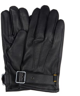 Men's Barbour International Throttle Leather Gloves - Black