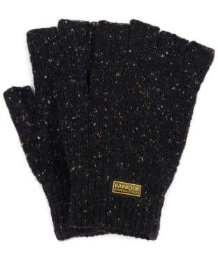 Men's Barbour International Fingerless Knitted Gloves - Black