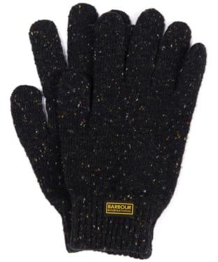 Men's Barbour International Knitted Gloves - Black