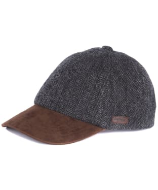 Men's Barbour Dotterel Sports Cap - Black Herringbone