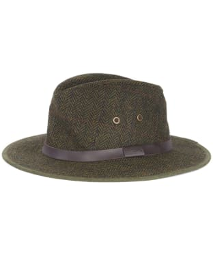 Men's Barbour Country Tweed Bushman Hat - Olive Country Check