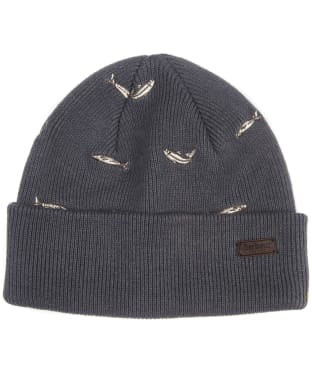 Men's Barbour Embroidered Watch Cap - Grey / Fish