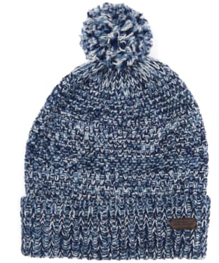 Men's Barbour Croston Pom Beanie Hat - Navy / Blue