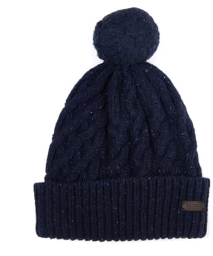Men's Barbour Seaton Pom Beanie - Navy