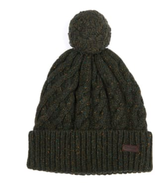 Men's Barbour Seaton Pom Beanie - Olive