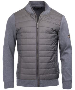 Men's Barbour International Baffle Zip Through Knit - Storm Marl