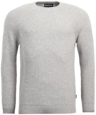 Men's Barbour Manor Crew Neck Sweater - Light Grey Marl