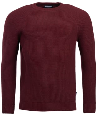 Men's Barbour Manor Crew Neck Sweater - Merlot