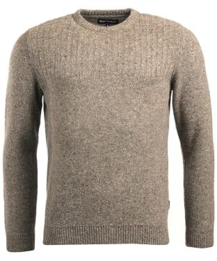 Men's Barbour Tay Nep Crew Neck Sweater - Stone