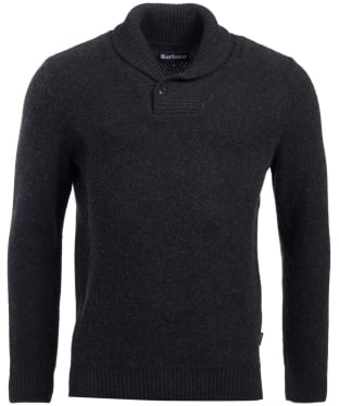 Men's Barbour Honeycomb Shawl Neck Sweater - Graphite