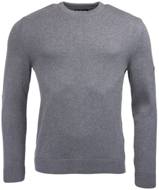 Men's Barbour International Baffle Patch Sweater - Storm Grey Marl