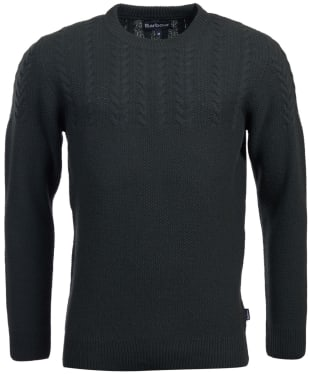 Men's Barbour Crastill Cable Knit Crew Neck Sweater - Seaweed