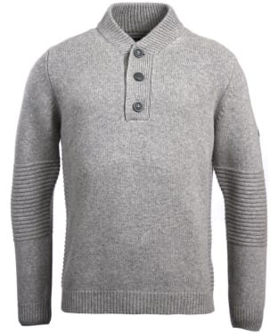 Men's Barbour International Alternator Half Button Sweater - Grey Marl