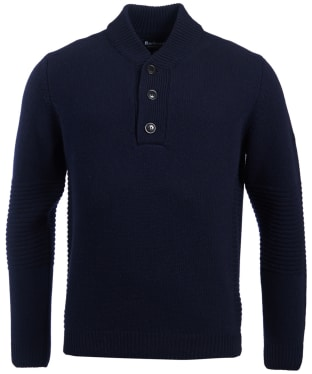 Men's Barbour International Alternator Half Button Sweater - Navy