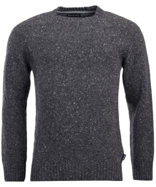 Men's Barbour Netherton Crew Neck Sweater - Charcoal
