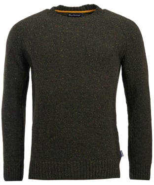Men's Barbour Netherton Crew Neck Sweater - Forest
