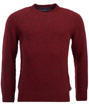 Men's Barbour Netherton Crew Sweater - Merlot
