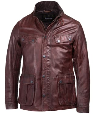 Men's Barbour International John Leather Jacket