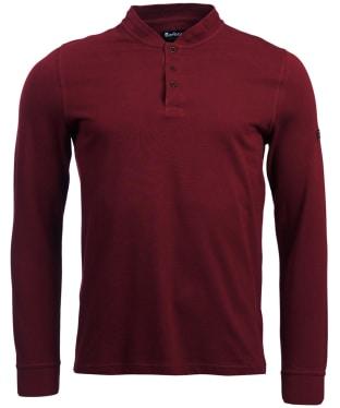 Men's Barbour International Jump Long Sleeve Polo Shirt - Port