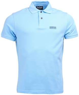 Men's Barbour International Essential Polo - Ice Blue