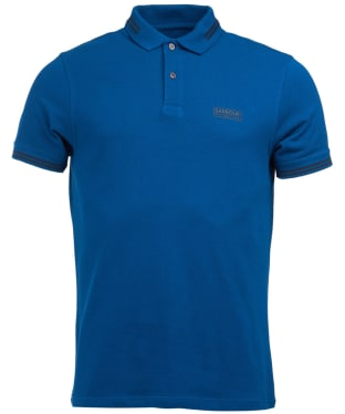 Men's Barbour International Essential Tipped Polo Shirt - Dark Petrol