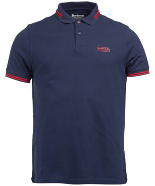 Men's Barbour International Essential Tipped Polo Shirt - Navy