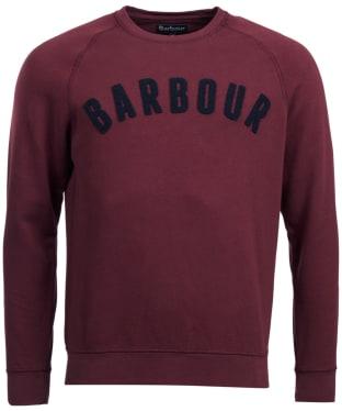Men's Barbour Prep Logo Crew Neck Sweatshirt - Merlot