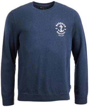 Men's Barbour Cobra Crew Neck Sweater - Indigo