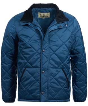 Men's Barbour Barron Quilted Jacket - Vintage Blue