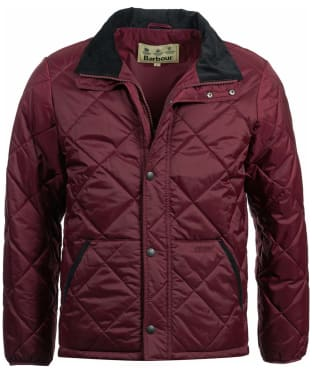 Men's Barbour Barron Quilted Jacket - Bordeaux
