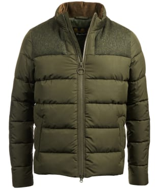 Men's Barbour Dhow Quilted Jacket - Dark Green