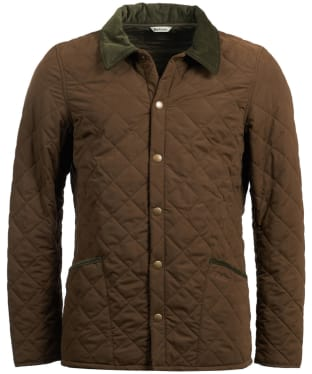 Men's Barbour Bridle Quilted Jacket - Dark Sand