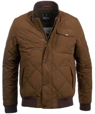 Men's Barbour Steve McQueen State Quilted Jacket - Dark Sand