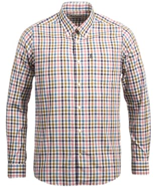 Men's Barbour Bibury Tailored Shirt - Dusty Pink Check