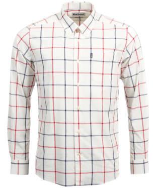 Men's Barbour Baxter Check Shirt - Whisper White Check