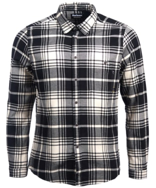 Men's Barbour International Tuner Shirt - Ecru Check