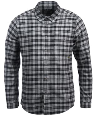 Men's Barbour International Tuner Shirt - Charcoal Check