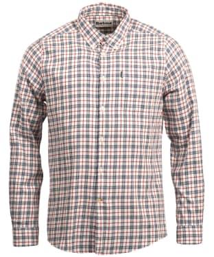 Men's Barbour Stapleton Country Check Shirt - Whisper White