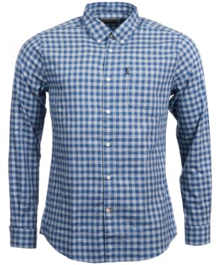 Men's Barbour Endsleigh Gingham Shirt - Mid Blue