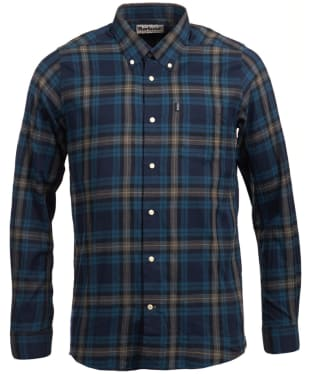 Men's Barbour Stapleton Highland Check Shirt - Navy