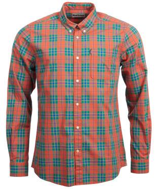 Men's Barbour Endsleigh Highland Check Lightweight Shirt - Orange