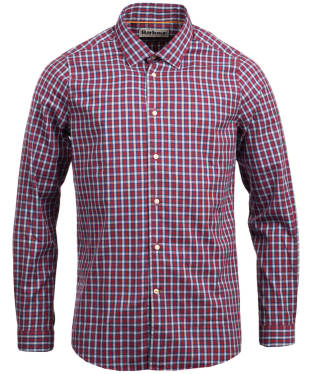 Men's Barbour Highfield Micro Check Shirt - Rich Red
