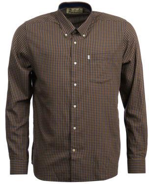 Men's Barbour Swinley Wool Mix Shirt - Sandstone