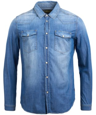 Men's Barbour Steve McQueen Nevada Shirt - Indigo