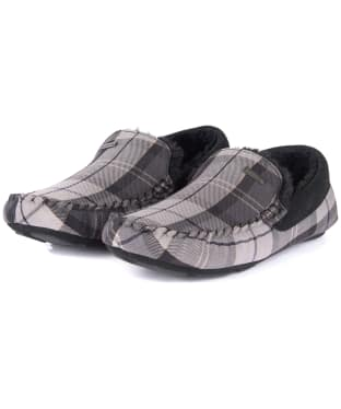 Men's Barbour Monty House Slippers - Monochrome Tartan