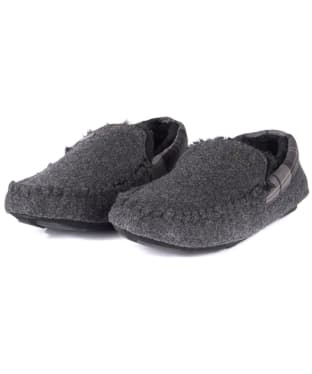 Men's Barbour Monty House Slippers - Grey Felt