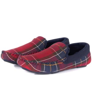 Men's Barbour Monty House Slippers - Merlot Tartan