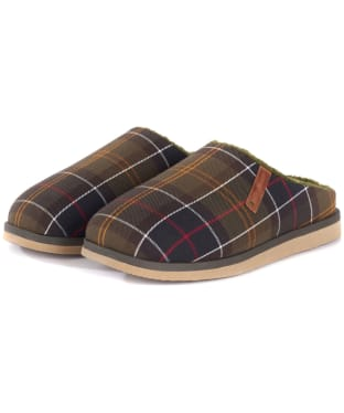 Men's Barbour Hughes Slippers - Classic Tartan