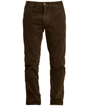 Men's Barbour Neuston Stretch Cord Trousers - Dark Olive